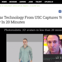 UploadVR coverage of our 3D scanning technology
