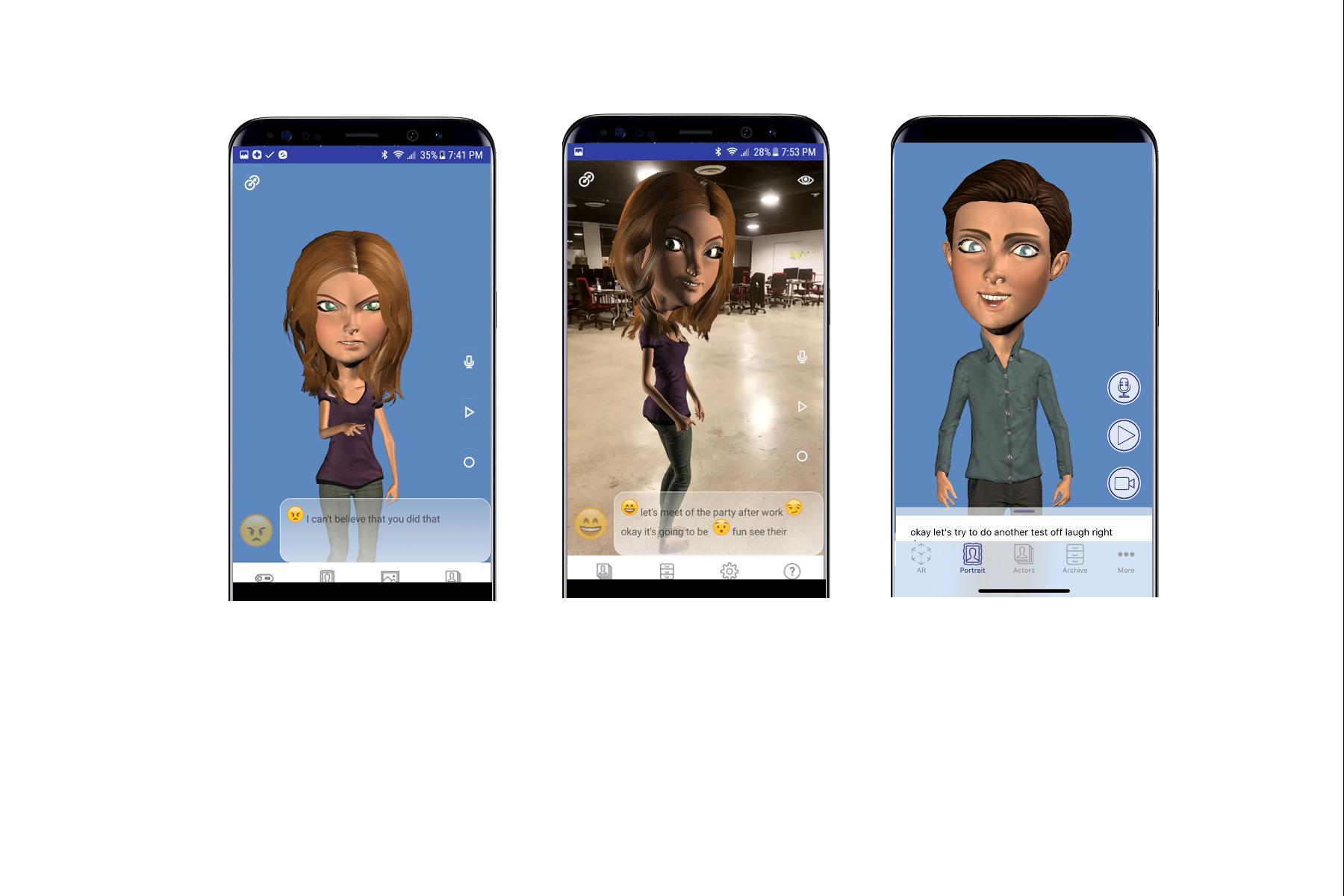 A/R Avatar Director app – express yourself in A/R! – Embody Digital